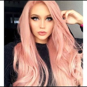 Pink Synthetic Wig